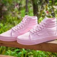 Vans 50 Anniversary Zh06 Pink High Top Sneaker Flats Shoes Canvas Sport Shoes