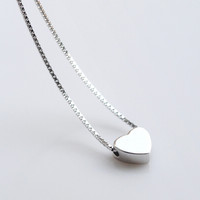 925 sterling silver Sweet  lovely  fresh love necklace,a perfect gift