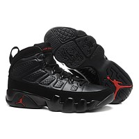 Nike Air Jordan 9 Retro Black/Red Men Sport Shoe Size US 8-13
