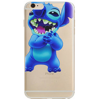 Disney Lilo & Stitch Eating Jelly Clear Case For Apple Iphone 7 PLUS
