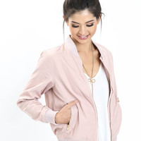 Gigi Blush Bomber Jacket
