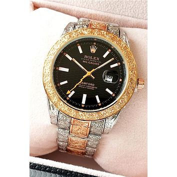 Rolex 2019 new men and women carved automatic mechanical watch #6