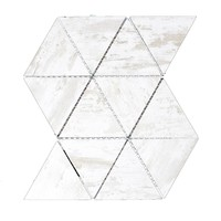 ABOLOS Nature Triangle Birchwood White 12 in. x 11.625 in. x 6.35 mm Glass Mosaic Tile-HMDWTJTRI-BW - The Home Depot