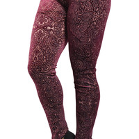 Red Carved Leggings Design 24