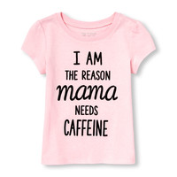 Toddler Girls Mommy And Me Short Sleeve 'I Am The Reason Mama Needs Caffeine' Graphic Tee | The Children's Place