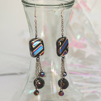 TRON Inspired Earrings Disney Fashion by LifeistheBubbles on Etsy