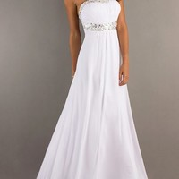 Elegant White Prom Dress 2013