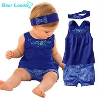 Baby Suits Baby Sleeveless Dress Gingham Plaid Pant Baby Clothing