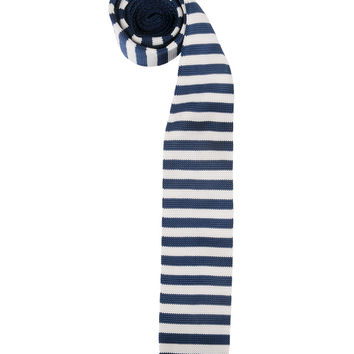 Square Edge Striped Tie