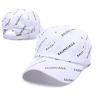 Balenciaga Hot Sale Women Men Sport Sunhat Print Baseball Cap Hat White