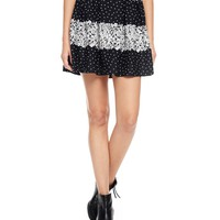 Printed Flirty Ponte Skirt by Juicy Couture