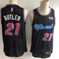 Miami Heat #21 Jimmy Butler Basketball Jersey Black City