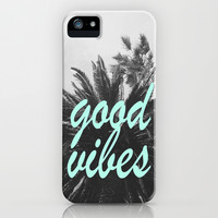 good vibes palm tree iPhone & iPod Case by Hannah