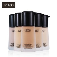 MRC Base Liquid Foundation Makeup Mineralize Cream 10 Color Moisturizing Oil Control Concealer Sunblock Cream SPF15 Maquiagem