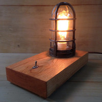 "Mid-Century Industrial Edison Desk Lamp - ""Hickory, Ohio"" Model"