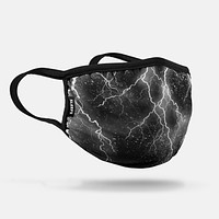 Black Rain Face Mask With Filter Pocket