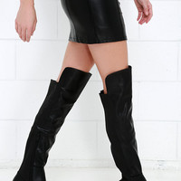 Little Bit of That Black Over the Knee Boots