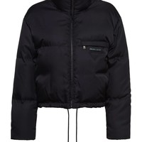 Ladies Black Puffer Blue Interior Jacket by Prada