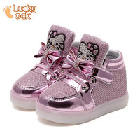 2016 New Designer Children's Running Mesh Sneakers with Light Girls Boys Breathable Original Kids Shoes Baby Outdoor Sports Shoe