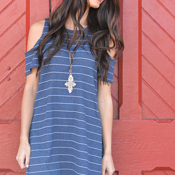 Say Anything Open Shoulder Dress