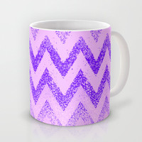 disappearing purple chevron Mug by Marianna Tankelevich