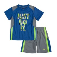 Nike ''Just Do It'' Tricot Tee & Shorts Set - Baby