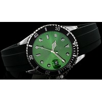 Rolex  tide brand fashion men's automatic watch F-SBHY-WSL Black case + silver letter + green dial