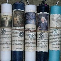 "ONE ""Prayer for a time of stress and confusion""  pillar Candle spell - Wicca"
