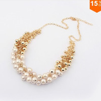 Korean Version Of The Retro Palace Beauty Pearl Necklace = 1668785220