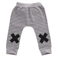 Hot Fashion Baby Boy Harem Pants Kids Striped Trousers Toddler Elastic Bottoms Leggings