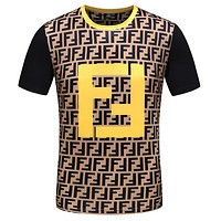 FENDI Summer New Trending Men Women Stylish F Letter Short Sleeve T-Shirt Top Tee