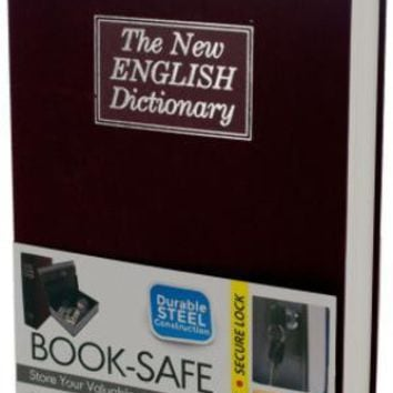 Hidden Dictionary Book Safe - Black, White, Red