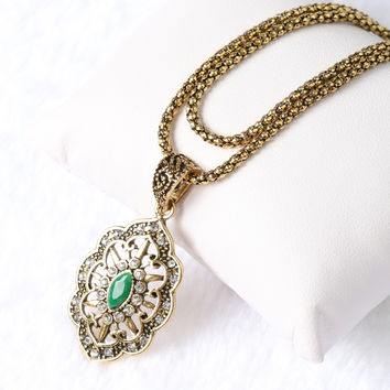 Antique Gold Plated Necklace