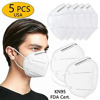 FDA Reg. KN95 Anti-Dust Filter 95% Face Respirator Protection Mask Roof Mouth Masks