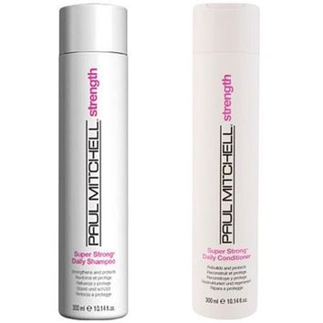 Paul Mitchell Super Strong Shampoo And Codnitioner 10.14 oz Duo  Scuffed