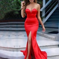 Red Prom Dresses,Sweetheart Prom Dresses,Long Evening Dress