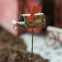 Miniature Dollhouse FAIRY GARDEN ~ Rustic Mailbox ~ NEW