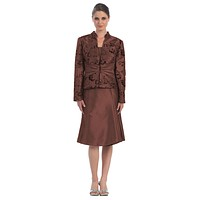 CLEARANCE - Cocoa Short Knee Length Mother of the Bride Dress (Size XL)