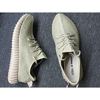 """Adidas"" Women Yeezy Boost Popular Women Men Casual Running Sports Shoes Sneakers Olive Green I"