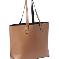 Old Navy Reversible Faux Leather Tote Size One Size - Cognac brown