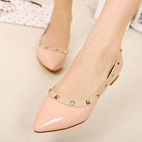Solid Pointed Toes Flat Shoes