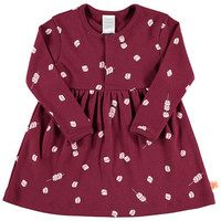 TinyCottons Marshmallow Print Long Sleeve Dress (2Y)
