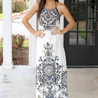 Rhapsody Maxi - Ivory and Black