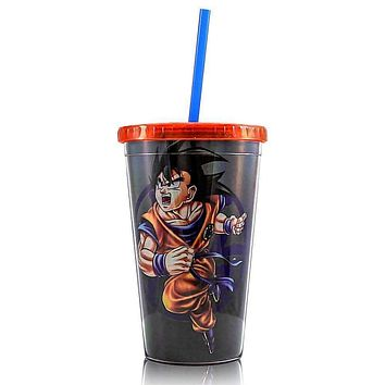 Dragon Ball Z Goku Carnival Cup with 4 Star Ball, 16oz, (Officially Licensed), by Just Funky