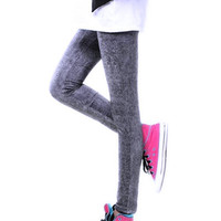 Black Washed Accent Leggings