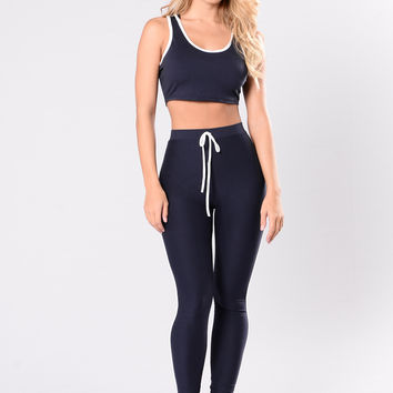 How Bout Now Set - Navy/White