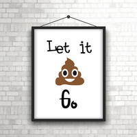 Funny bathroom print - Funny bathroom wall decor - Kids bathroom wall decor - Funny bathroom sign - Kids bathroom printable