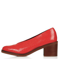 JUDE V-Throat Mid Shoes - Red