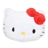 Hello Kitty Face Plush Pillow with Red Bow
