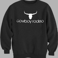 Cowboy Rodeo Logo Sweater for Mens Sweater and Womens Sweater *